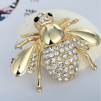 2016 New Factory Direct Hot Selling Cute Animal Bee Brooch For Women In Europe And America High-grade brooch