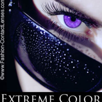 Vivacious Violet Extreme Color Contact Lenses