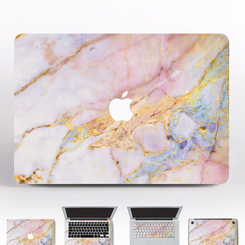 Marble Pro 2016 Macbook Pink Marble Laptop Skin Macbook Pro 15 Skin Air 11 Macbook Skin Gold MacBook 12 Decal Retina 13 Marble Cover DR050