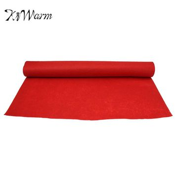 KiWarm 40ftX3ft Large Disposable Red Carpet Wedding Aisle Floor Runner Hollywood Party Scene Decoration Cloth 1200X100cm