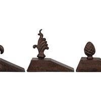 Asst. of 3 Cast Iron Door Stops, Brown, Door Stops