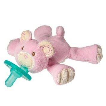 Wubbanub Thready Teddy Pacifer, Pink. Baby, plush, toys, wabbanub, pacifier, babies, infant Home improvement / accessories