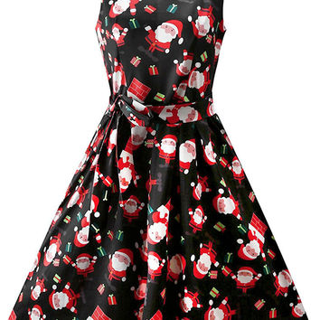 Cupshe Christmas All Night Sleeveless Dress