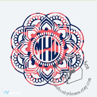Lilly Pulitzer Inspired Mandala Monogram Decal, Lilly Monogram, Yeti Monogram Decal, Lilly Car Decal, Lilly Car Decal, Dream Catcher