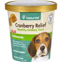 Naturvet Cranberry Relief - Plus Echinacea - Dogs - Cup - 60 Soft Chews