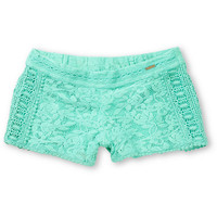 Element Girls Nina Mint Crochet Shorts