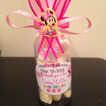 minnie mouse baby shower bottle favors mickey and minnie baby