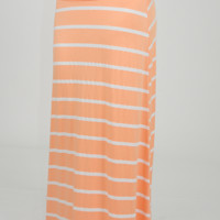 Lay It On The Line Skirt: Orange Sherbet