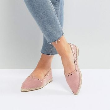 ASOS JISELLE Point Studded Espadrilles at asos.com