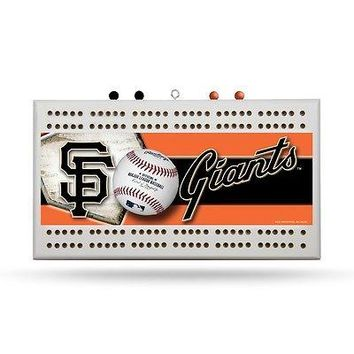 San Francisco Giants MLB Licensed 2-Track Cribbage Board FREE US SHIPPING