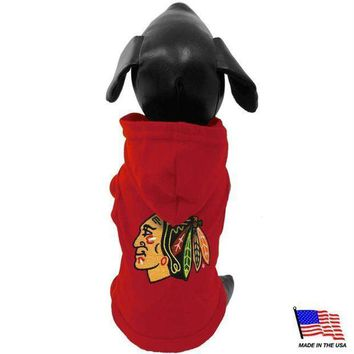 spbest Chicago Blackhawks Pet Hoodie