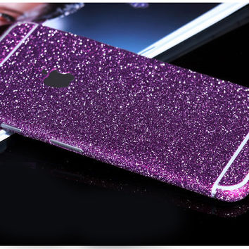 Purple Sparkle Glitter Decal Wrap Skin Set iPhone 6s 6 / iPhone 6s 6 Plus