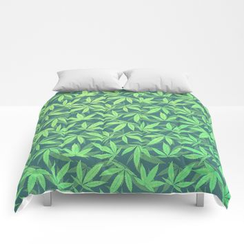 Cannabis / Hemp / 420 / Marijuana - Pattern Comforters by Badbugs_art