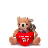 "Junior 4"" Shit Bitch Bear Keychain"