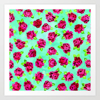 Roses Pattern 03 Art Print by Aloke Design