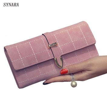 Carteras Mujer Korean Style Fashion Long Women Wallets Slim Leather Purse Elegant Ladies Evening Clutch Bag Walet Portefeuille