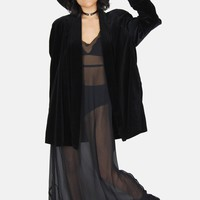 Trouble In Mind Sheer Paneled Maxi Dress