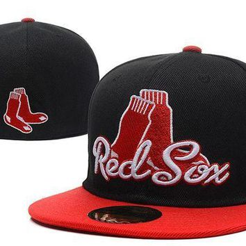 CREY8KY Boston Red Sox New Era MLB Authentic Collection 59FIFTY Hat Black-Red
