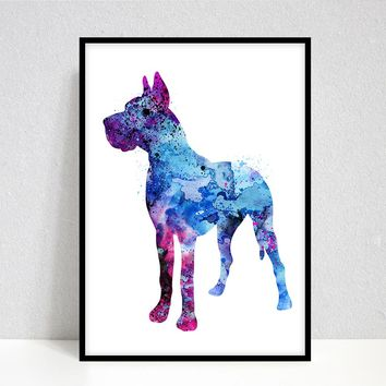 Doberman Art - Doberman Print - Doberman Watercolor - Doberman Painting - Sitting Doberman - Dog Wall Decor, Dog Lover Gift, Pet Lover Gifts -  70