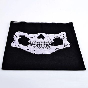 ONETOW Seamless MultiFunction Skull Cycling Face Mask Scarf Hat Motorcycle Bike Accessories Halloween Hiking Camping Equipment Bandana