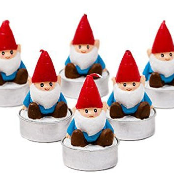 One Hundred 80 Degrees Gnome Tealight Candless (Set/6)