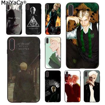 MaiYaCa Harry Potter Draco Malfoy Luxury Soft Rubber Phone Case for Apple iPhone 8 7 6 6S Plus X 5 5S SE XS XR XS MAX