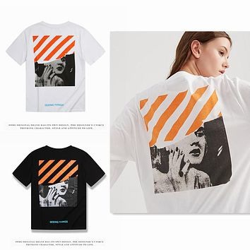 OFF WHITETROND LIFE Off 2018ss Monroe Tshirt S-XL