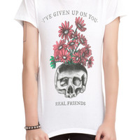 Real Friends Given Up On You Girls T-Shirt