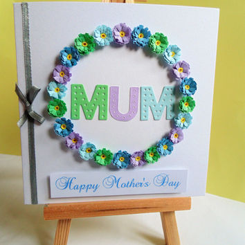 Mum Mothers day card, Mother's day card, card for Mum, Mother's day, Mum card, happy Mother's day, handmade card, Mothering Sunday,