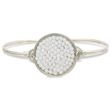 Druzy Bangle Bracelet In White
