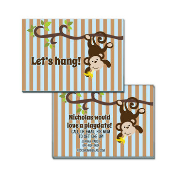 Let Hang for Boys Personalized Playdate Calling Cards
