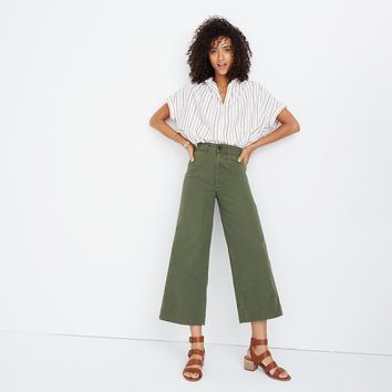 Emmett Wide-Leg Crop Pants : shopmadewell pants | Madewell