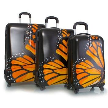 Heys® 3-Piece 4-Wheel Spinner Upright Luggage Collection with Monarch Print