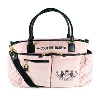 Juicy Couture Diaper Baby Bag Pink New Bib Wipe Box Changing Pad Latest Authentic Brand New with Tag