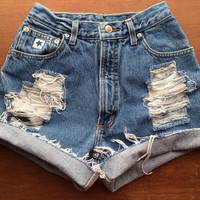 Size 2 High Waisted Jean Shorts