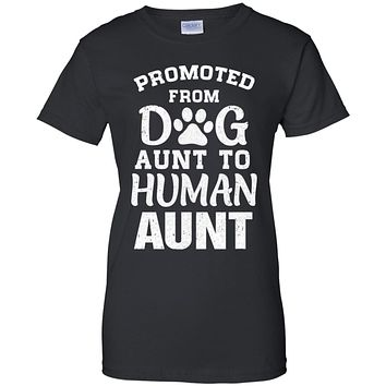 Promoted From Dog Aunt To Human Aunt Gifts