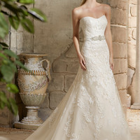 Mori Lee 2781 Strapless Fit and Flare Wedding Dress