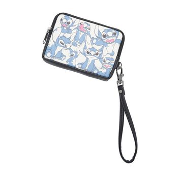 Licensed cool Loungefly Disney Lilo & Stitch Alien Print Zip Coin Purse Detachable Wristlet