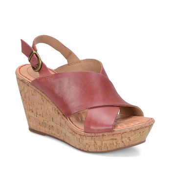 Born Emmy Red Leather Sandals