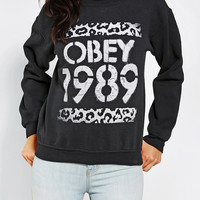 OBEY Cheetah Logo Pullover Sweatshirt - Urban Outfitters