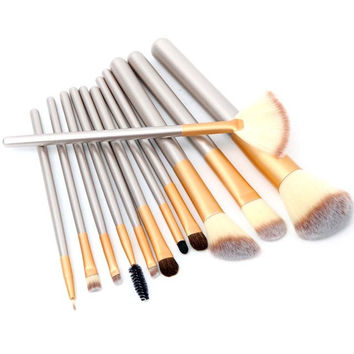 2017 12 Pcs Professional Makeup Brushes Soft Synthetic Cosmetic Foundation Powder Blush Eyeliner Brushes Set