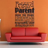 I Am Your Parent Wall Decal