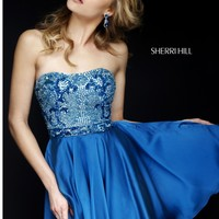 Sherri Hill 1954 Short Beaded Party Dress