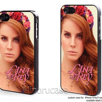 lana del Rey Custom case For iphone 4/4s,iphone 5,Samsung Galaxy S3,Samsung Galaxy S4 by minorucase on etsy