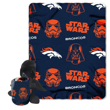 Denver Broncos NFL Star Wars Darth Vader Hugger & Fleece Blanket Throw Set