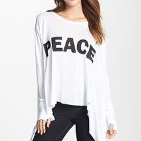 Peace Love World Skinny Shark Bite Hem Top | Nordstrom
