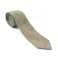Olive Linen Chambray Tie