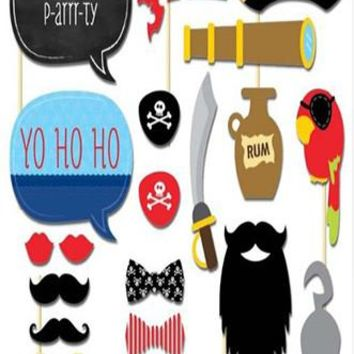 Pirate Nautical Photo Booth Props For Weddings Birthdays and Kids Party - PRA128