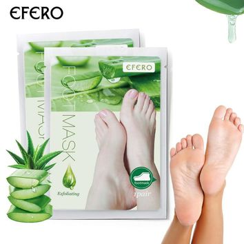 efero 2Pcs/1Pair Exfoliating Foot Mask for Legs Heels, Skin Foot Patch Cuticles Pedicure Socks Exfoliating Foot Spa