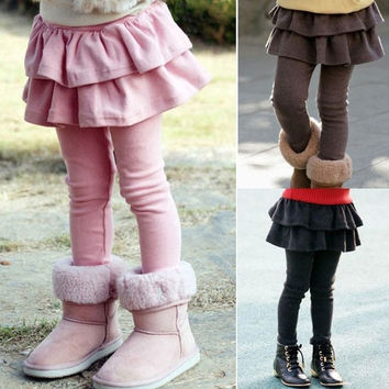 Fashion Tutu Skirt Pants Kids Girls Beauty Cake Culottes Leggings  D_L = 1713288708